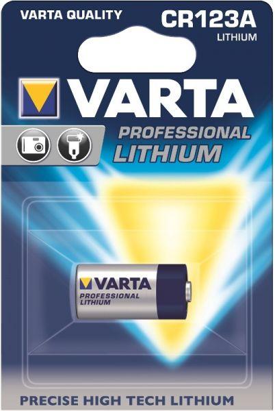 VARTA Professional Lithium CR123A 1600 mAh 3,0V