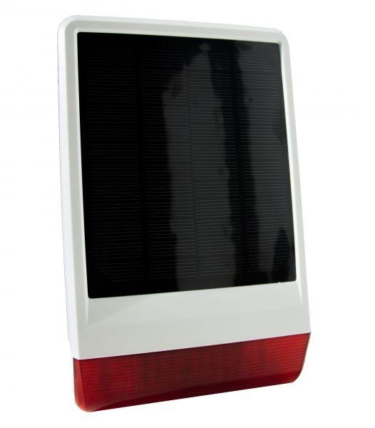 Popp solarbetriebene Außensirene IP56